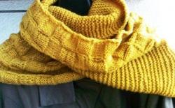 Шарф-снуд – незаменимая, практичная, теплая и красивая вещь. Снуд – многофункциональный аксессуар: его можно использовать как шарф, шапку, капюшон, накидку, палантин. Осенью и весной снуд заменяет мягкий теплый шарф, который носят на шее, обернув несколько раз. Предлагаю вязанный спицами шарф-снуд мягкого горчичного цвета. Под цвет осенней листвы он согреет прохладным днем, будет уместен к пальто, куртке, плащу. Снуд связан из высококачественной пряжи (75% шерсти). Полностью ручная работа в единственном экземпляре гарантирует неповторимость вашего образа.
