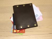 """Шкіряний гаманець Дощ""""BeCool""""#bcc11"""