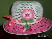 Чудова літня шляпка захистить від  сонця та додасть шарму. Виготовлена зі 100 % бавовняних ниток. На замовлення виготовлю за 3-5  днів