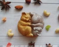 """Шоколад ручной работы""""Коты Инь-Ян"""""""