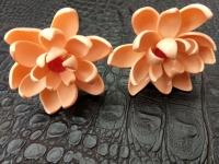 Шпильки для волосся ручної роботи з полімерної глини на хвилястій ніжці