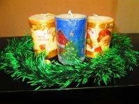 Свечи ручной работы, декорированы в технике декупаж