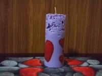 Свечи валентинки-декупаж