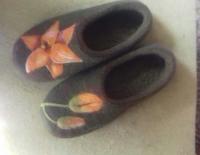 Тапочки из чистой шерсти. Подшиты микропорой. Приятные ноге и глазу