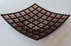 Тарелка из стекла ручной работы, изготовленная по технологии фьюзинг. Размер 21х21 см. Сделаю на заказ. Изготовление возможно по ваших размерах и в выбранной гамме цветов.