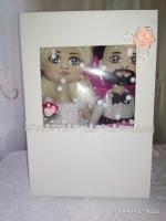 Текстильні ляльки Наречена та Наречений.Подарунок на весілля