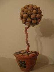 Дерево счастья из натуральных материалов.