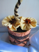 Топиарий из зерен кофе для оформления интерьера, декор, пода