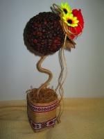 Топиарий кофейный Украиночка -замечательный декор и подарок
