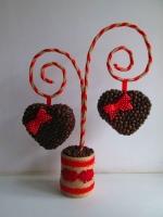 """Топиарий - валентинка """"Два сердца"""", кофейный подарок"""
