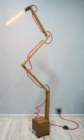 """Під замовлення! 5-7 робочих днів! Торшер """"Pride&Joy"""", виготовлений з натурального дерева, в стилі """"Loft"""" з лампою Едісона. Ручна робота з індивідуальним дизайном. Встановлено вмикач під ногу.  особливості: - з натурального дерева; - Встановлено вмикач під ногу; - Стандартний патрон; - Лампа Едісона входить в комплект;  Основа: 15 cm x 15 cm x 15 cm Висота: max 180 cm Кабель: 150 cm Вага: 4 kg  Дану модель можна виготовити під замовлення в необхідній кількості."""