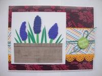 Открытка ручной работы,изготовлена из дизайнерского картона и дизайнерской бумаги, 15,5 х 20 см , украшена 3D цветами