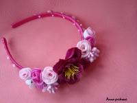 Ободок ручной работы, украшен цветами и жемчужинами! Дополнит Ваш образ к любому торжеству!