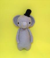Мягкая игрушка слон, обезьяна и панда.Материал – акриловая пряжа, наполнитель – холлофайбер.