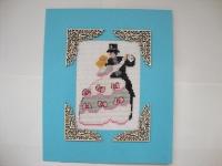 Вышитая свадебная открытка