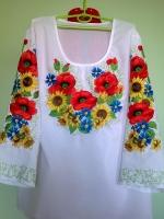 Вышиванка , вышитая блуза , заготовка для пошива блузы
