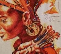 Вишита картина ′Африканка′