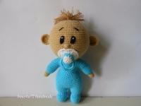 """Іграшка амігурумі """"Пупсик"""" Милий, кумедний пупсик шукає вірного і відданого друга. Прекрасний подарунок для дітей. Пупсик зв"""