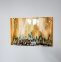 Акрил, холст, лак (глянец), золото 40х60 см. 2018