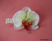 Заколка ручной работы с нежным и самым женственным цветком!