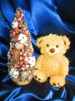 Заснеженная новогодняя (рождественская) елочка, эко- елка