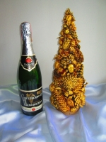 Золотая новогодняя (рождественская) елочка, эко- елка